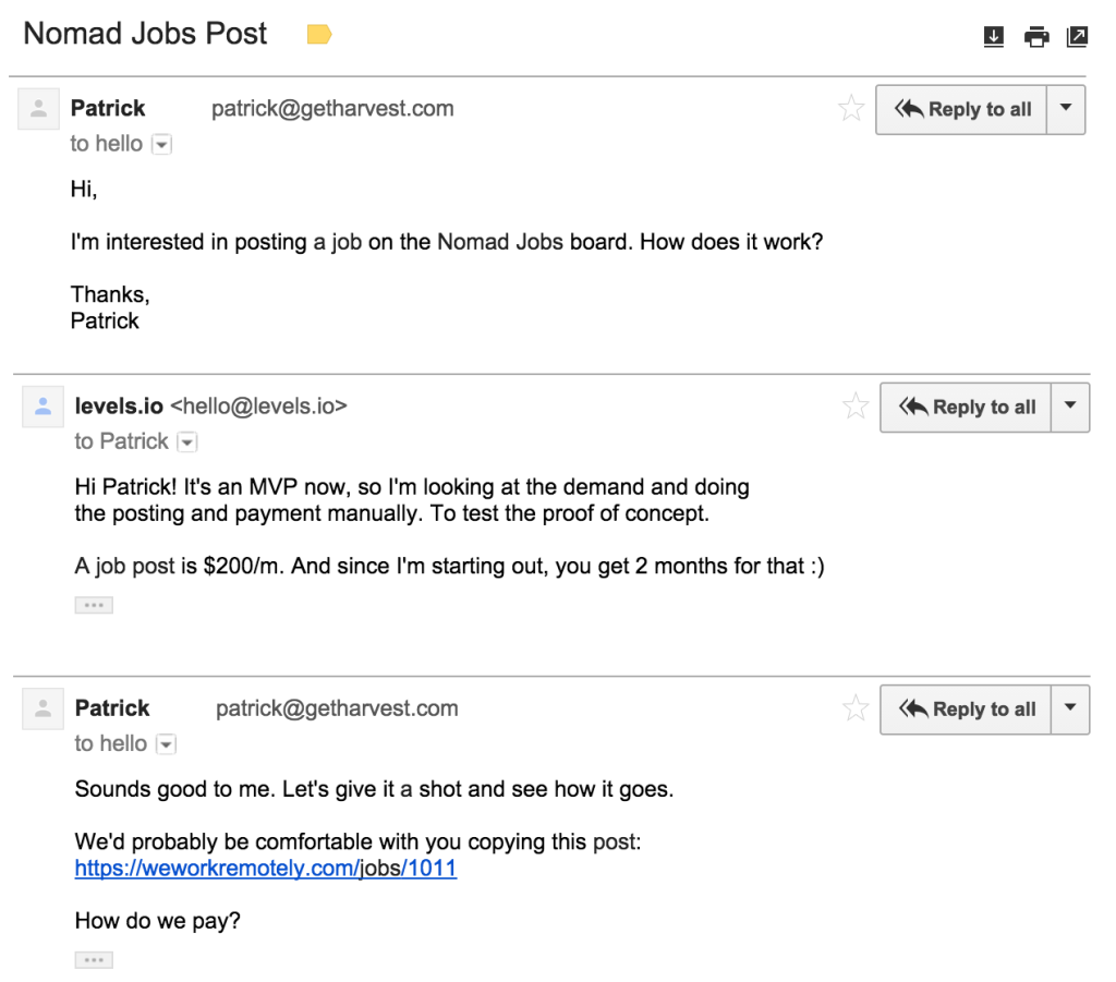 how i built nomad jobs a remote job board for % distributed after a few weeks adding jobs manually became an ordeal so i made the job submission process automated using a typeform payment
