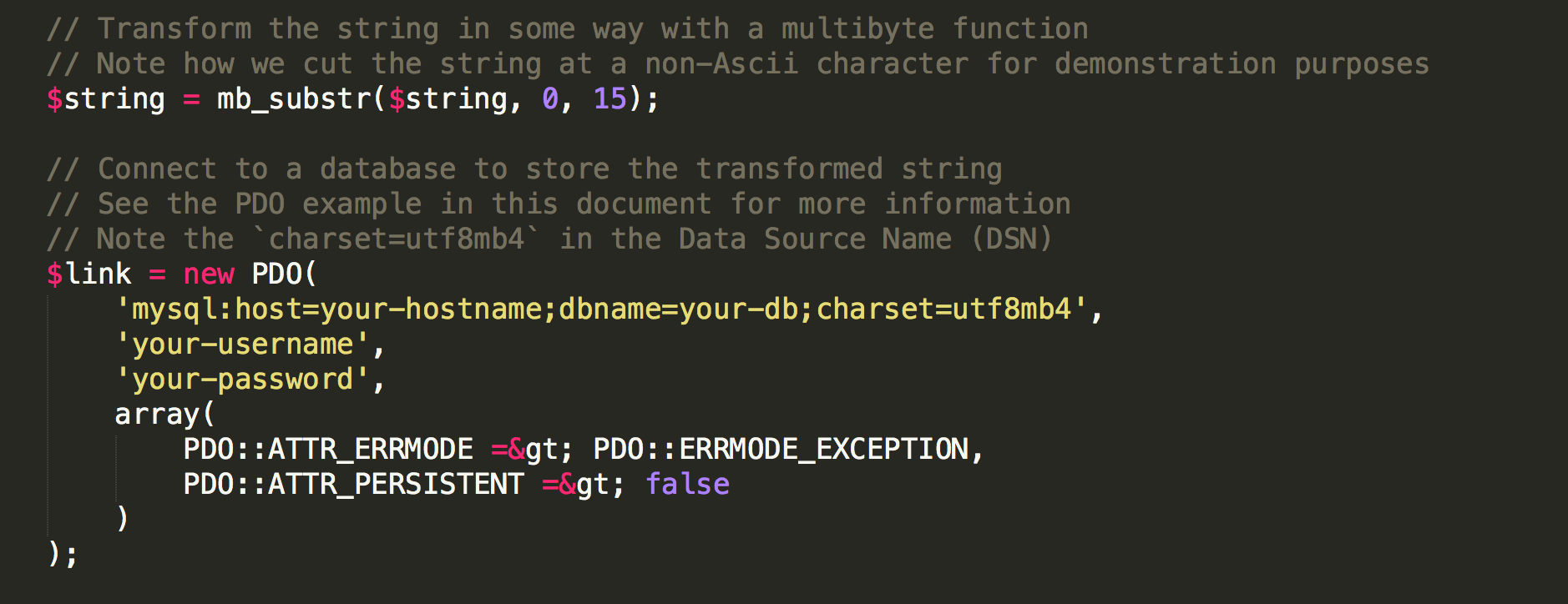 My weird code commenting style based on HTML tags