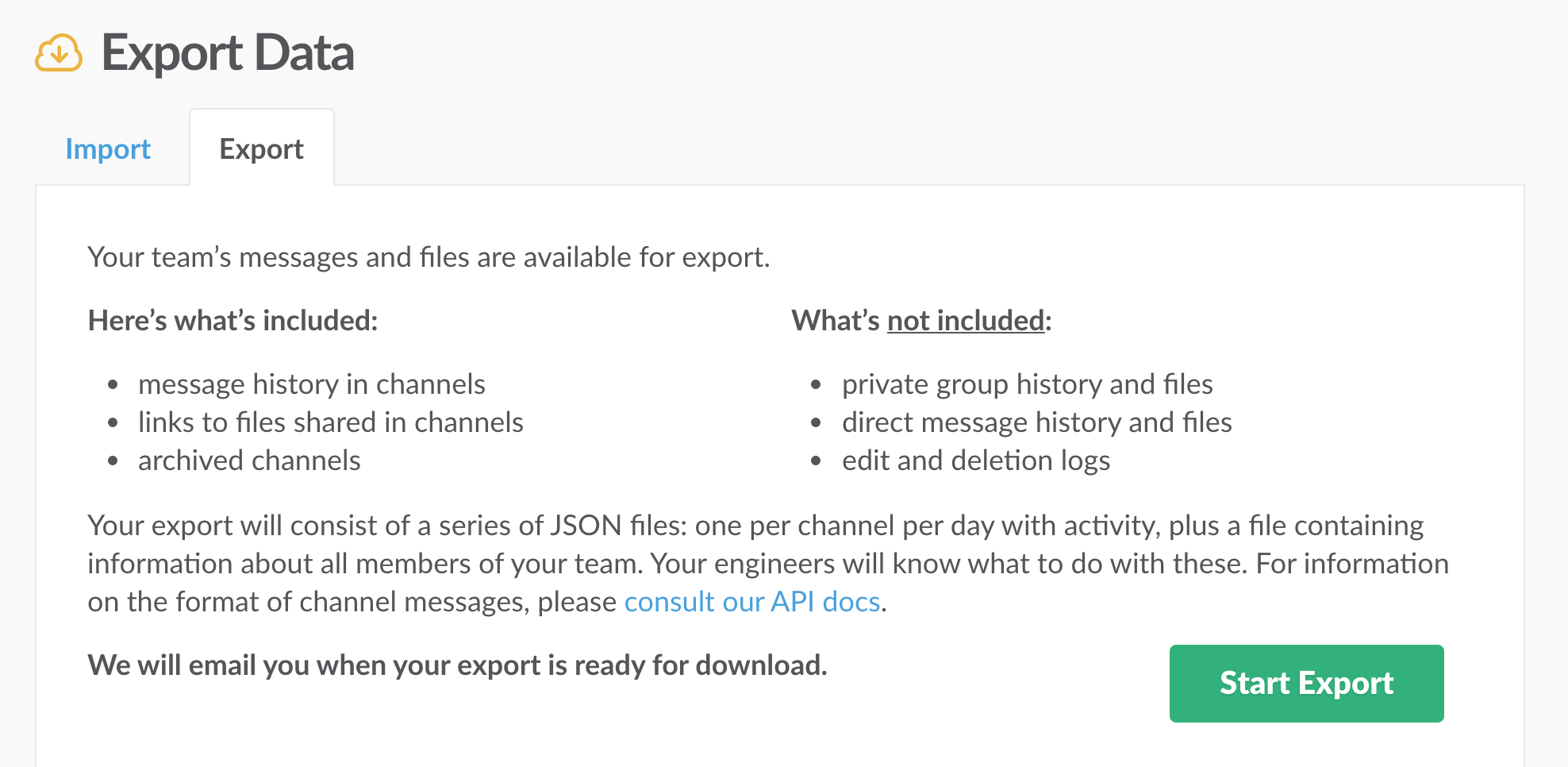 How to export your Slack's entire archive as HTML message logs