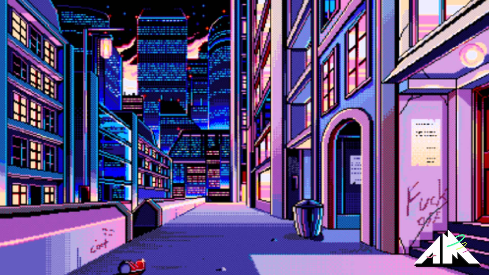 vaporwave is the only music that fits the feeling futuristic asian
